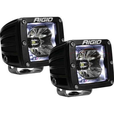 "Rigid 2"" Radiance Pod (3 LED) - White backlight (set of 2)"