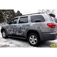 """Wheel arch fender flares 2.5"""" composite for Toyota Sequoia 2008-2021"""