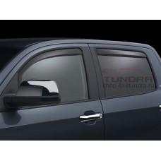 Дефлекторы окон WeatherTech (темные, вставные) для Toyota Tundra 2007-2021 Crew Max