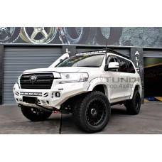 Front power aluminum bumper 6mm RIVAL Toyota Land Cruiser 200 2015+