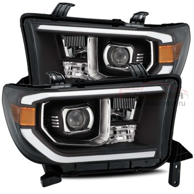 AlphaRex PRO-Series Headlights (Black) for 07-21 Toyota Tundra / 08-13 Toyota Sequoia
