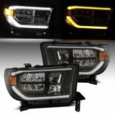 AlphaRex PRO-Series LED Headlights (Black) for 07-13 Toyota Tundra / 08-21 Toyota Sequoia