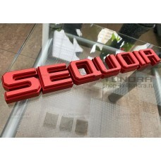 SEQUOIA letters anodized aluminum kit for Toyota Sequoia