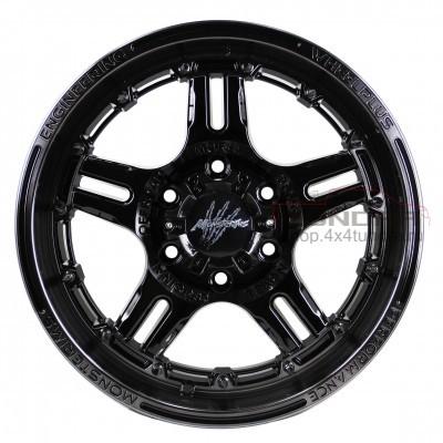 Wheel disk Monsterims MOR- 4 FANTASTIC R20 5x150 (BLACK CLEAR)